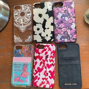 lot of 6 iphone 7 cases!